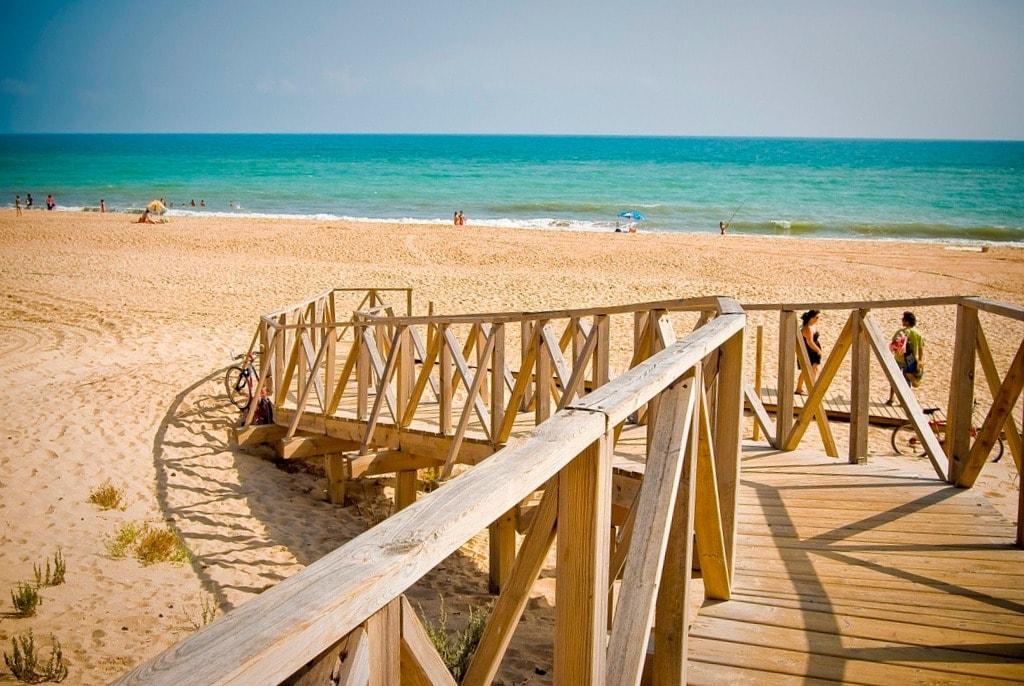 Nudist beach of Nueva Umbría in Lepe (Huelva)