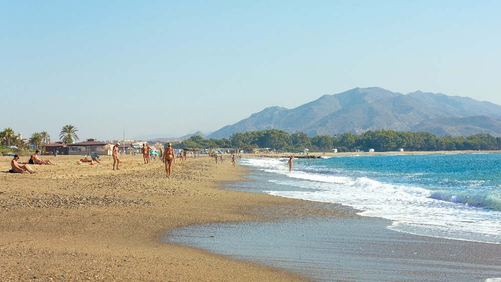 Nudist beach of Vera (Almeria)
