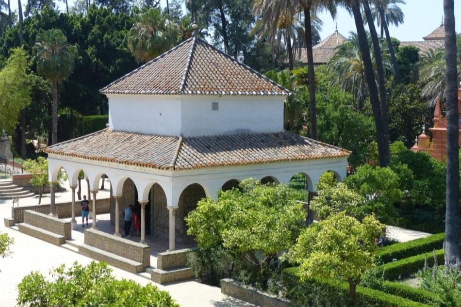 Pavillon Charles Quint dans le Real Alcázar de Séville
