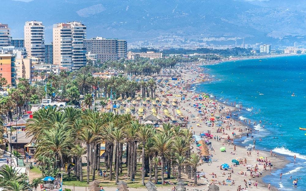Playa del Bajondillo en Torremolinos (Málaga)