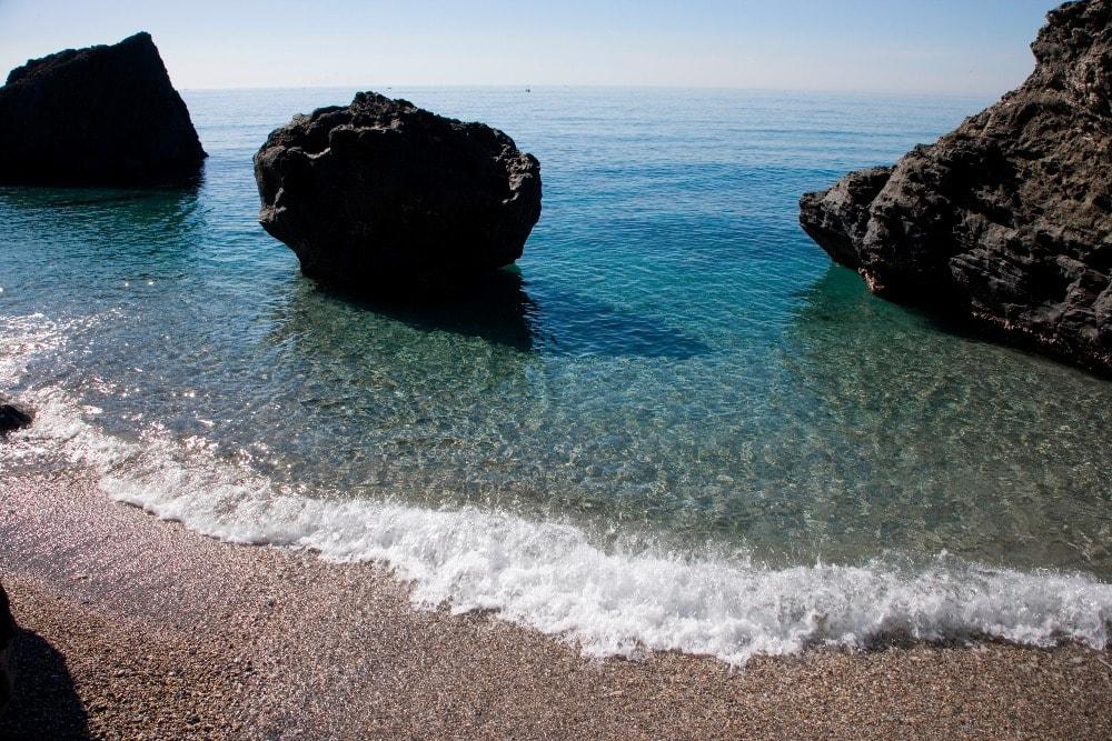Playa nudista de La Joya en Motril (Granada)