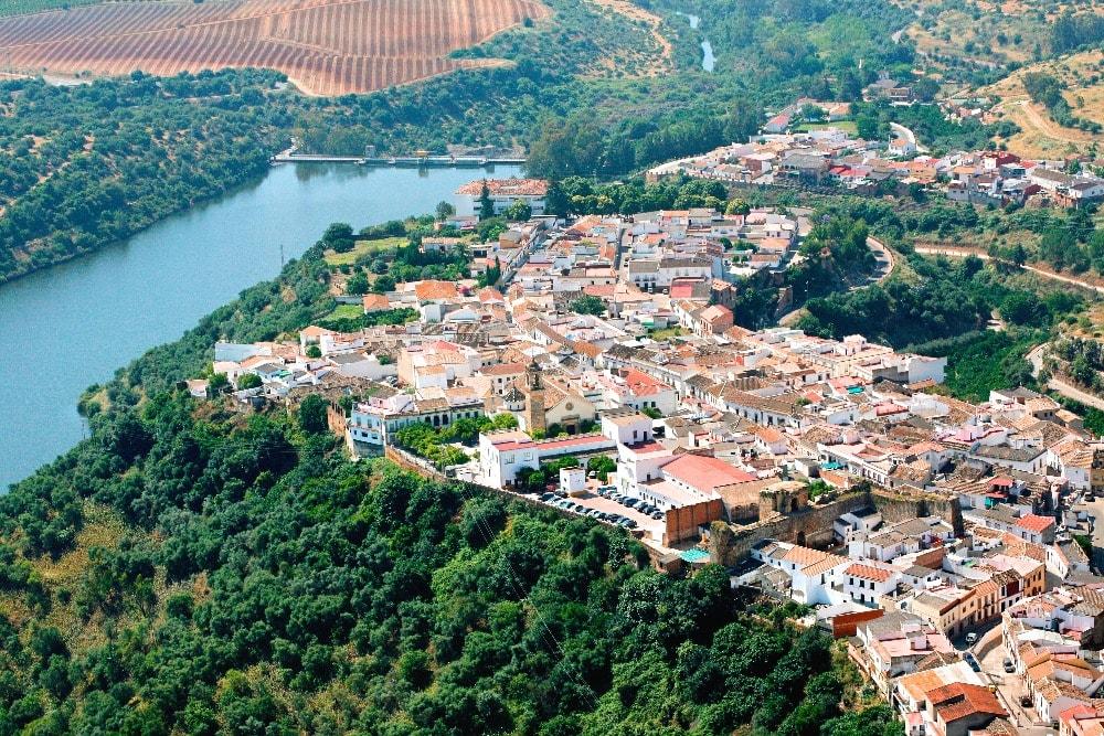 Vista aérea de Hornachuelos