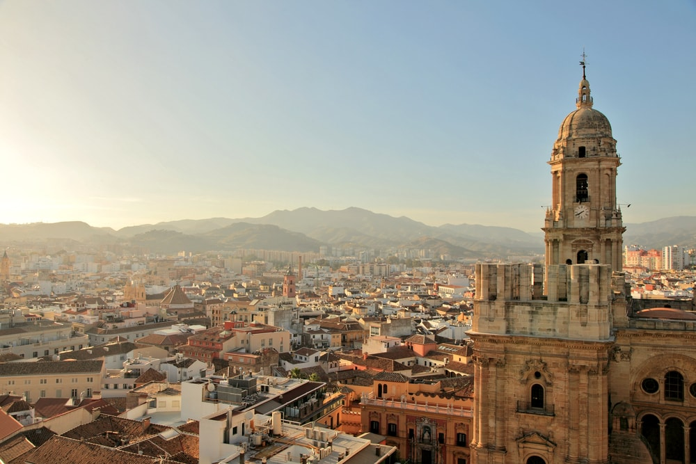 La Manquita opvallen in de skyline van Malaga