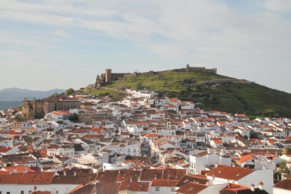 Panoramisch zicht op Aracena