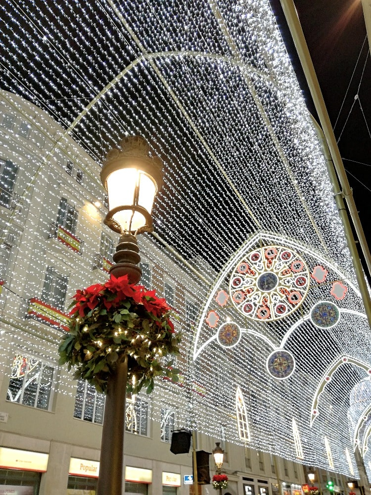 Calle Larios in Malaga at Christmas