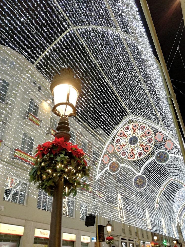 Calle Larios in Malaga zu Weihnachten