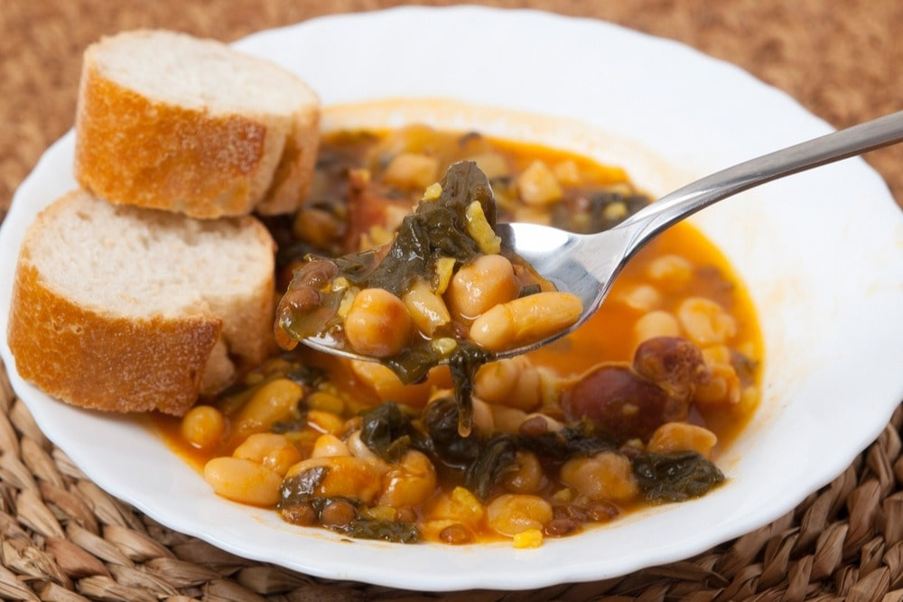 Potaje de garbanzos - typical Andalusian dish for winter