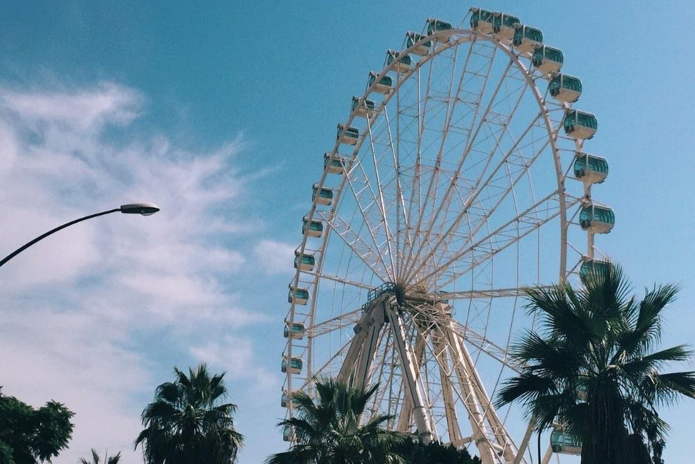 Grande roue Noria Mirador Princess pour une idée romantique à Malaga