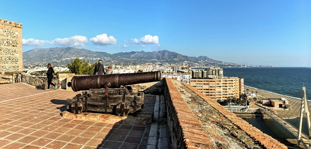 Panoramic views from the Castle of Sohail in Fuengirola