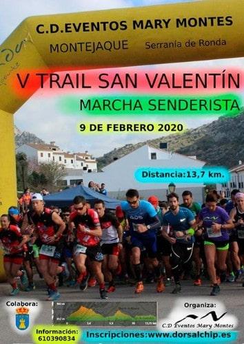 Tráil San Valentín de Montejaque - Maratones en Málaga 2020