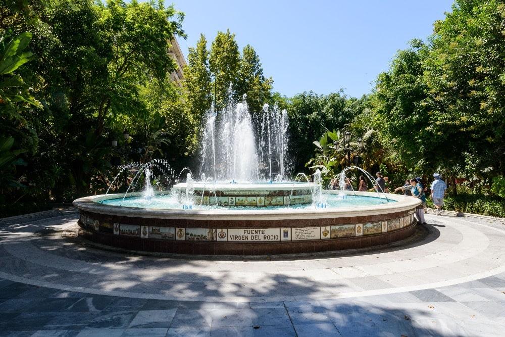 Fontein in het Park van La Alameda in Marbella