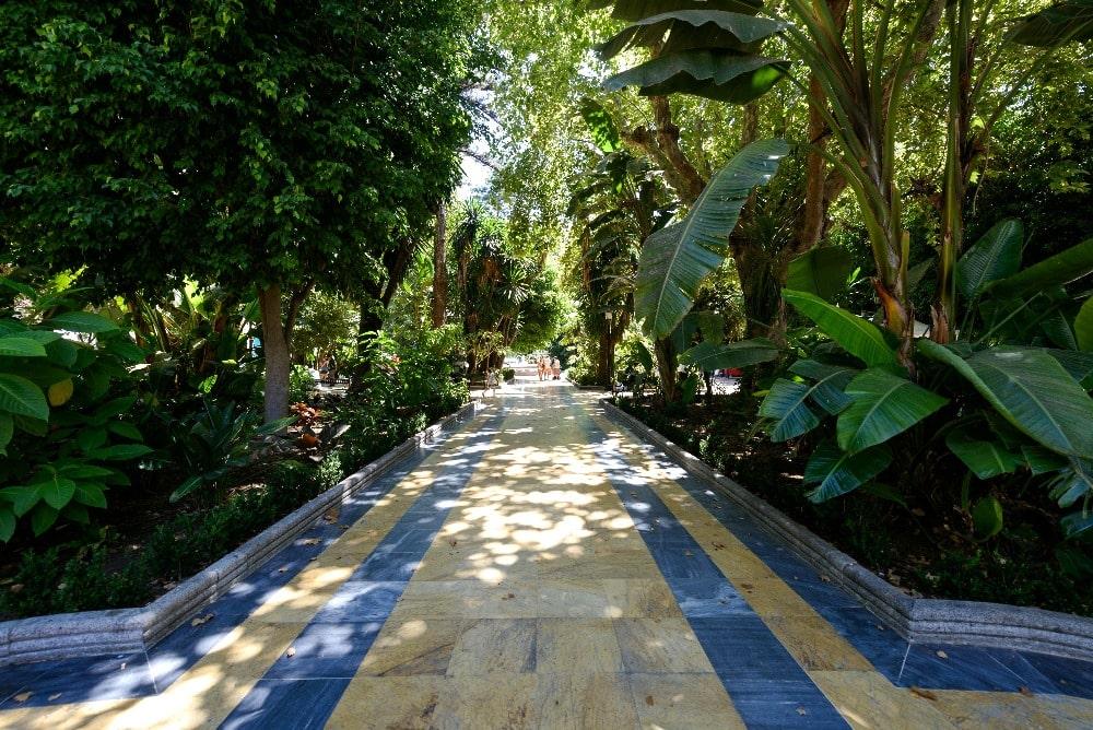 Park der Alameda in Marbella