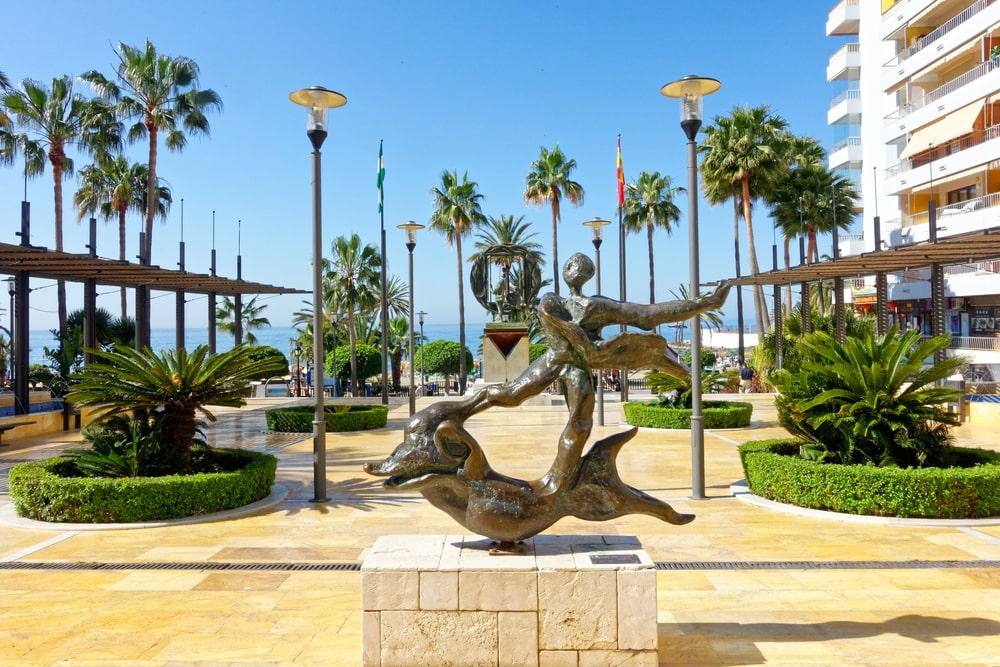 Skulptur in der Avenida del Mar in Marbella