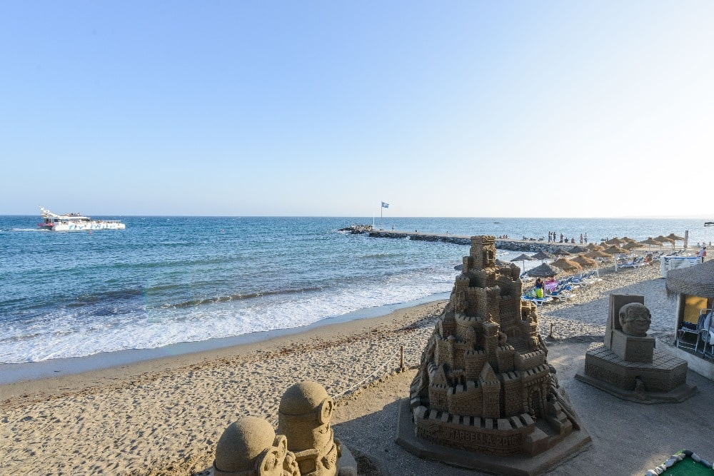 Städtischer Strand in Marbella