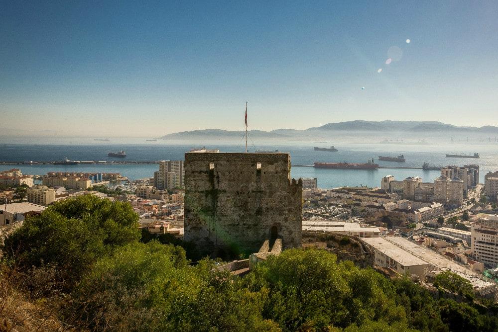 Castillo Morisco en la Upper Rock en Gibraltar