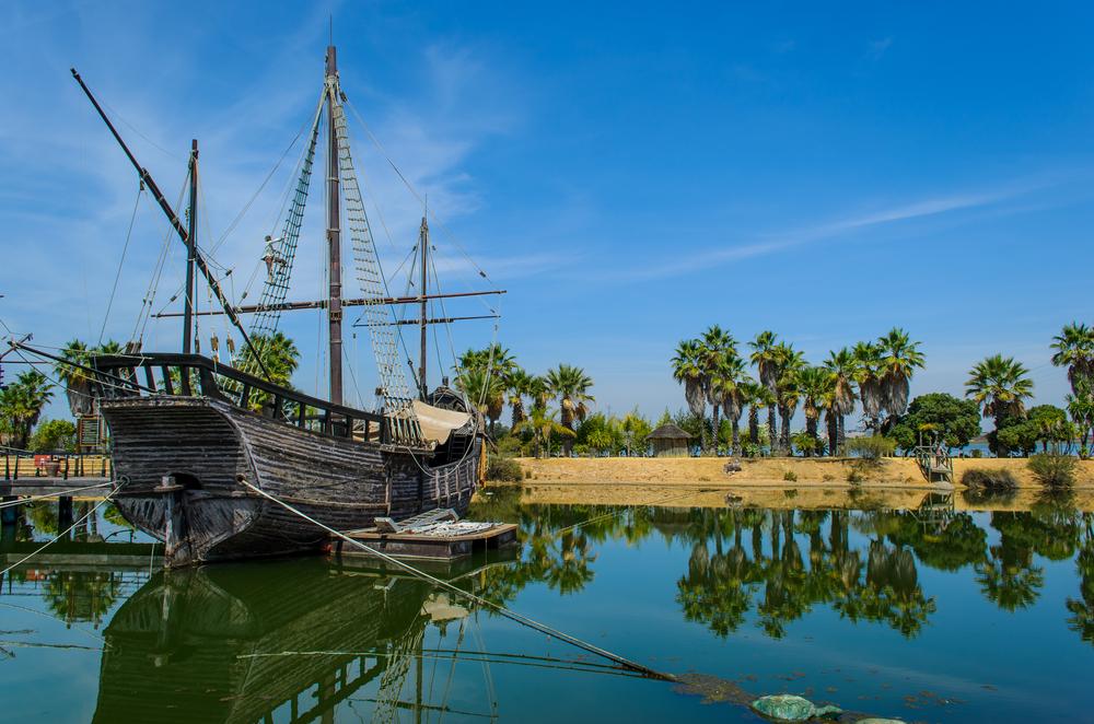 Cristóbal Colón en Palos de la Frontera