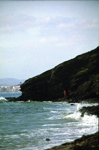 Naaktstrand van Benalnatura in Benalmádena (Malaga)