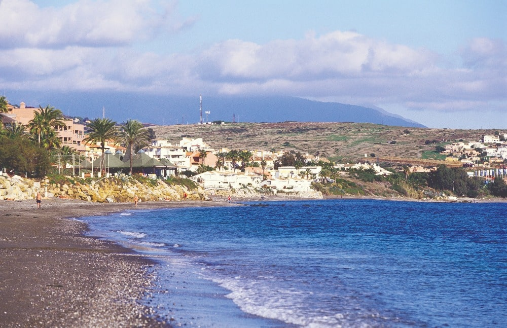 Nudist beach of Costa Natura in Estepona (Malaga)