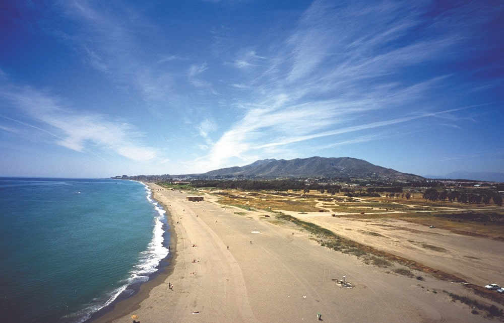 Playa nudista de Guadalmar (Málaga)