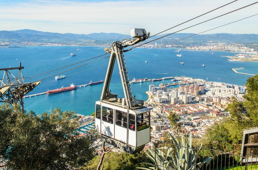 Teleférico en Gibraltar