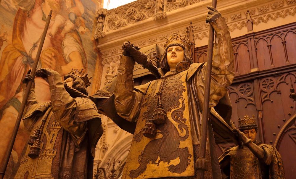 Tumba de Cristóbal Colón el la catedral de Sevilla