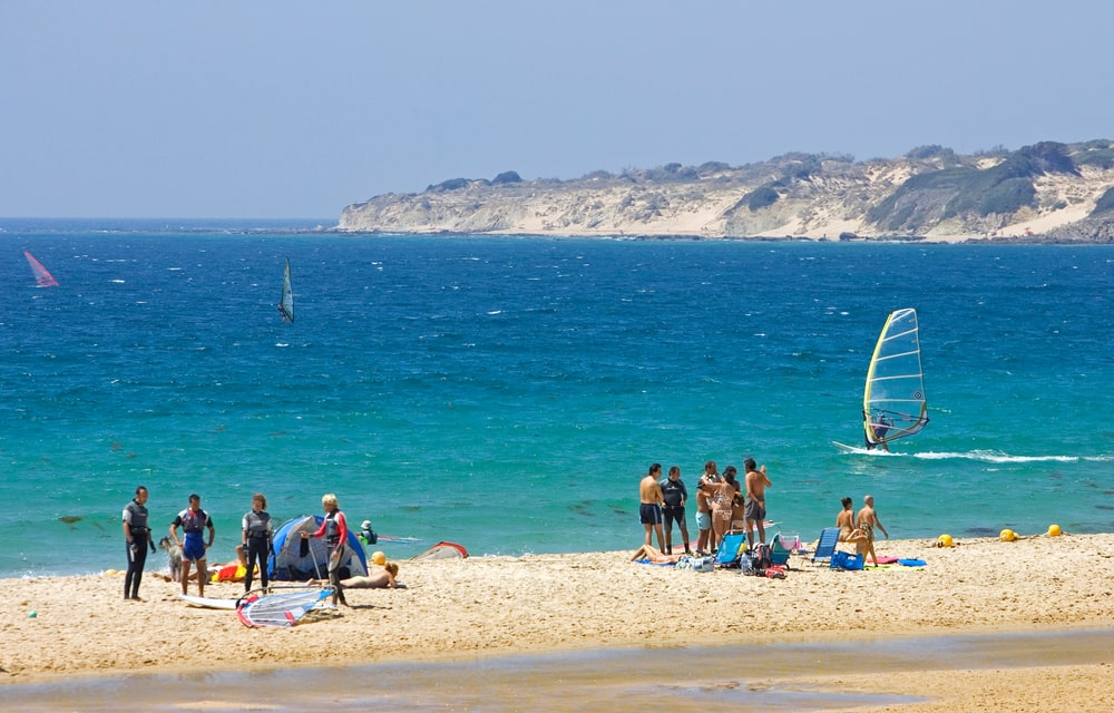 Watersports at Bolonia beach
