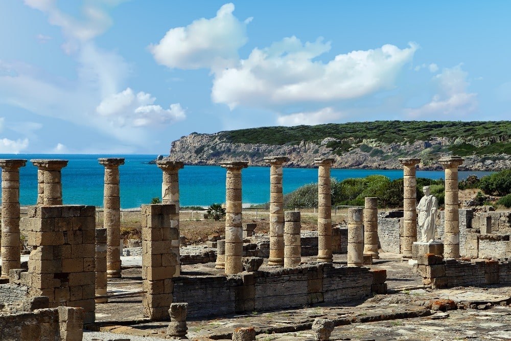 Ruines de Baelo Claudia dans la plage de Bolonia (Tarifa)
