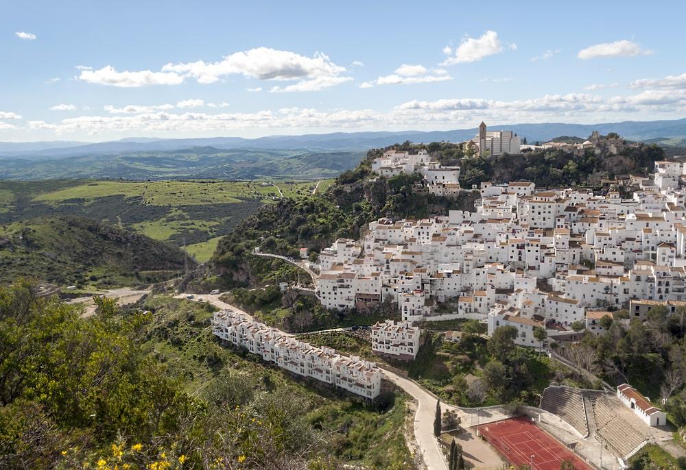 Casares in de provincie Malaga, te bezoeken in de herfst