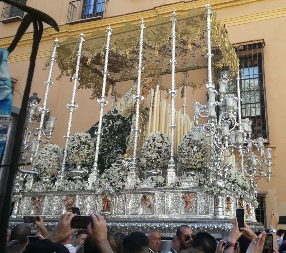 Semana Santa in Malaga in April - Virgen de la Pollinica