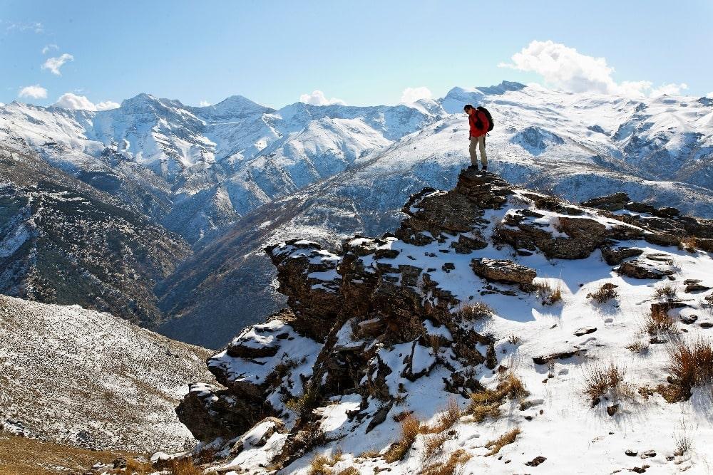 Janvier à Grenade - Sports d'hiver dans le parc national de la Sierra Nevada