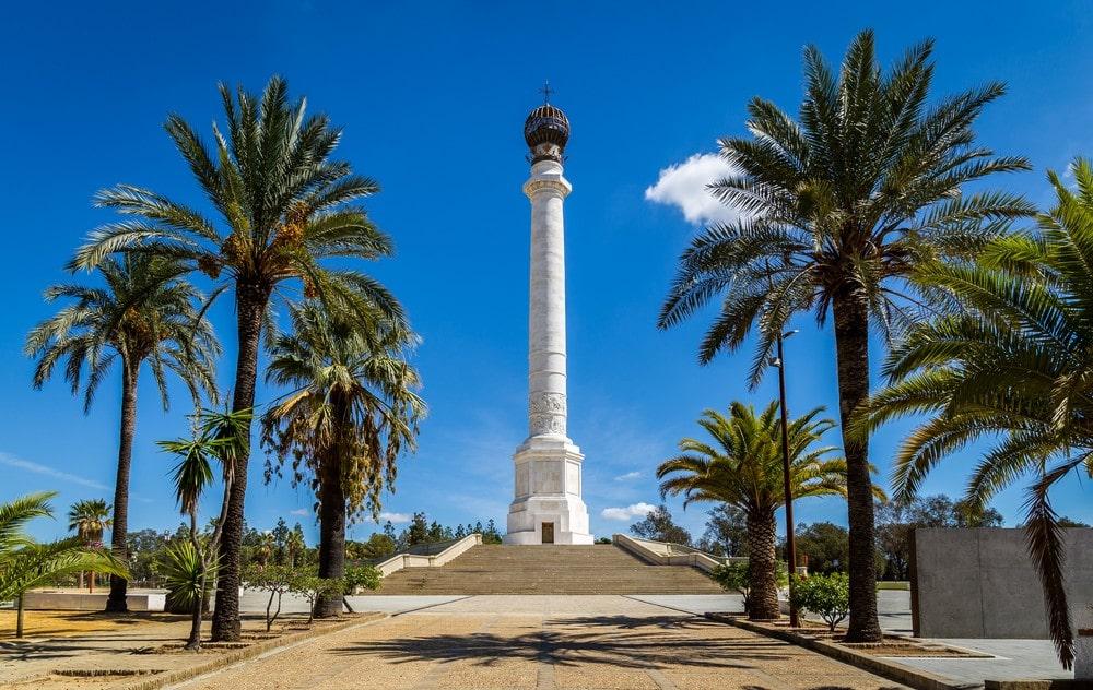 Columna Conmemorativa del IV Centenario del Descubrimiento de América, en La Rábida