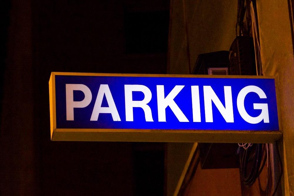 Señal de parking en Málaga