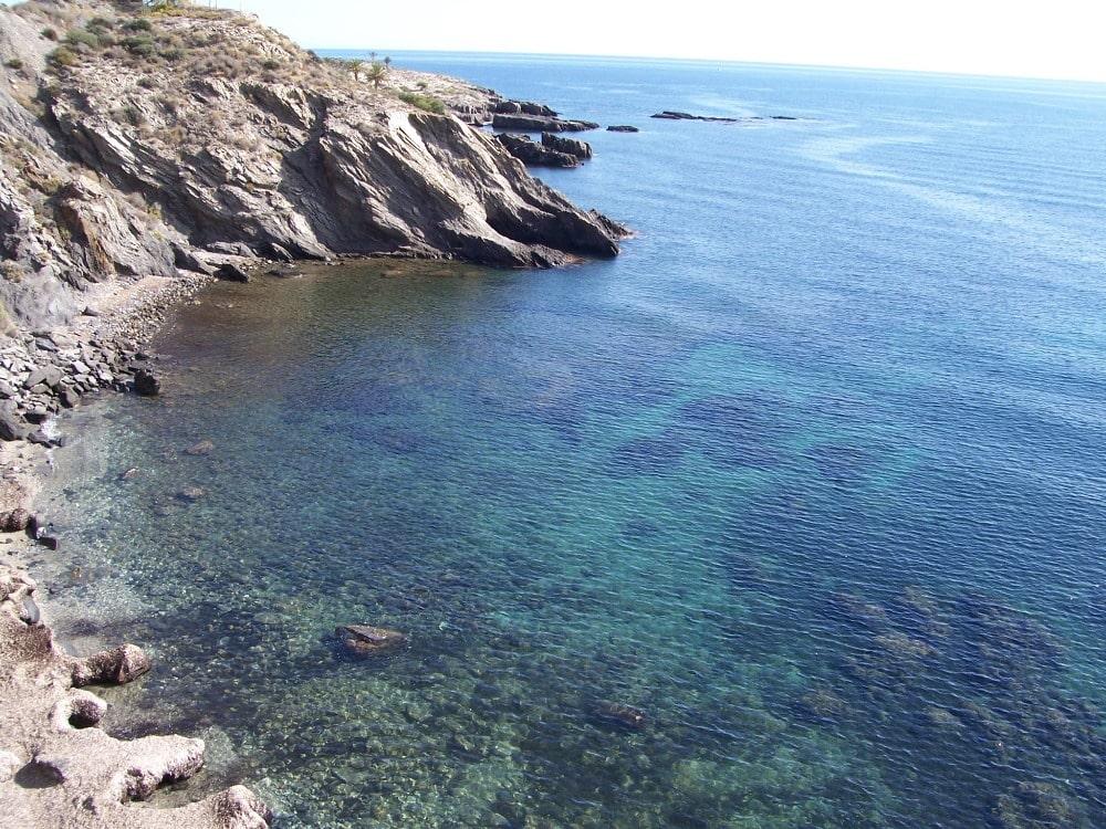 Einsame Strand von Cala Cristal in Cuevas de Almanzora (Almeria)