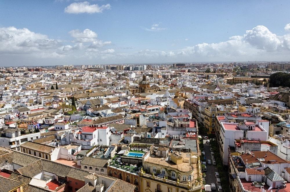 Entramado de calles en el centro de Sevilla - Dónde aparcar en Sevilla