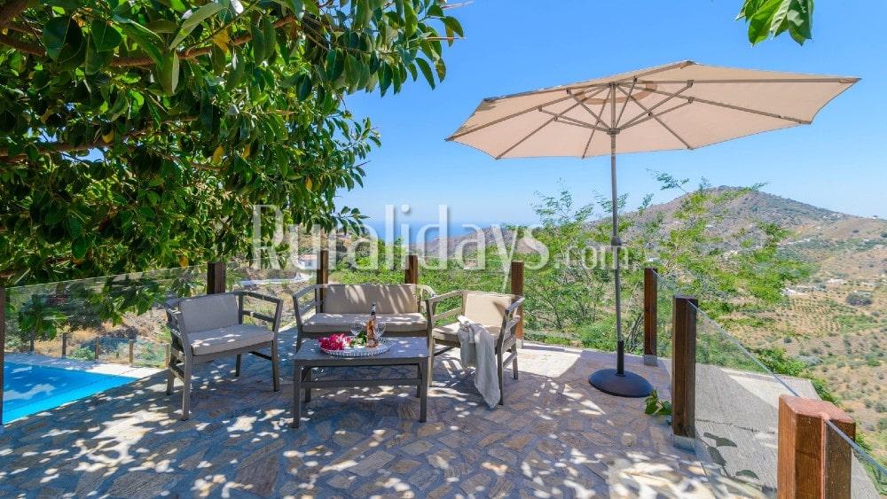 Fabuleuse location de vacances avec vue idyllique à Cómpeta - MAL1854