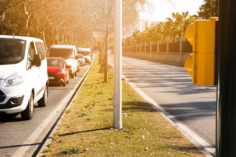 Parken im Zentrum von Malaga, in der Nähe der Muelle Uno