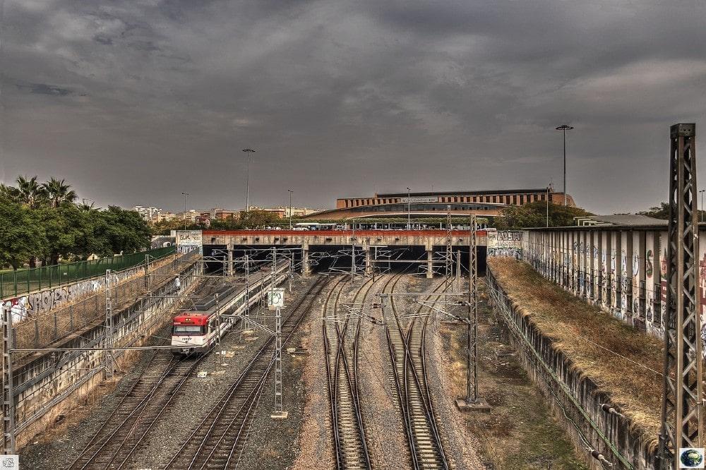 Parking près de la gare de Santa Justa, à Séville