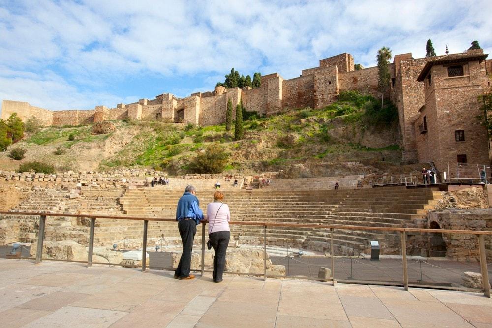 Alcazaba and Roman Theatre in Malaga city
