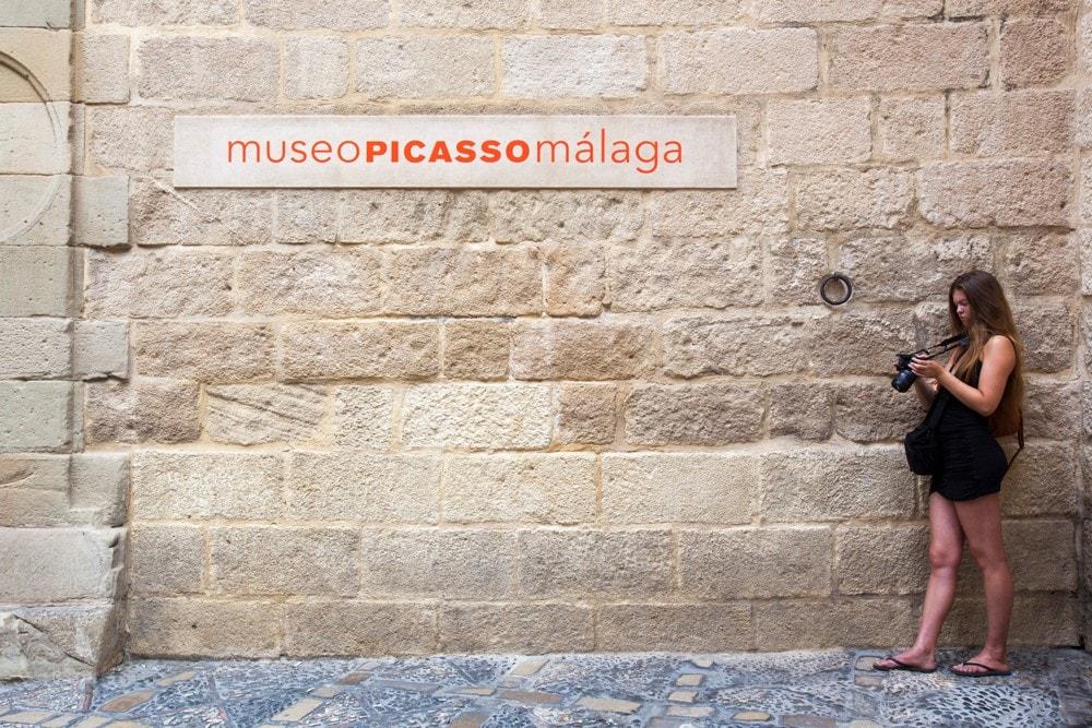 Exterior del Museo Picasso en Málaga ciudad