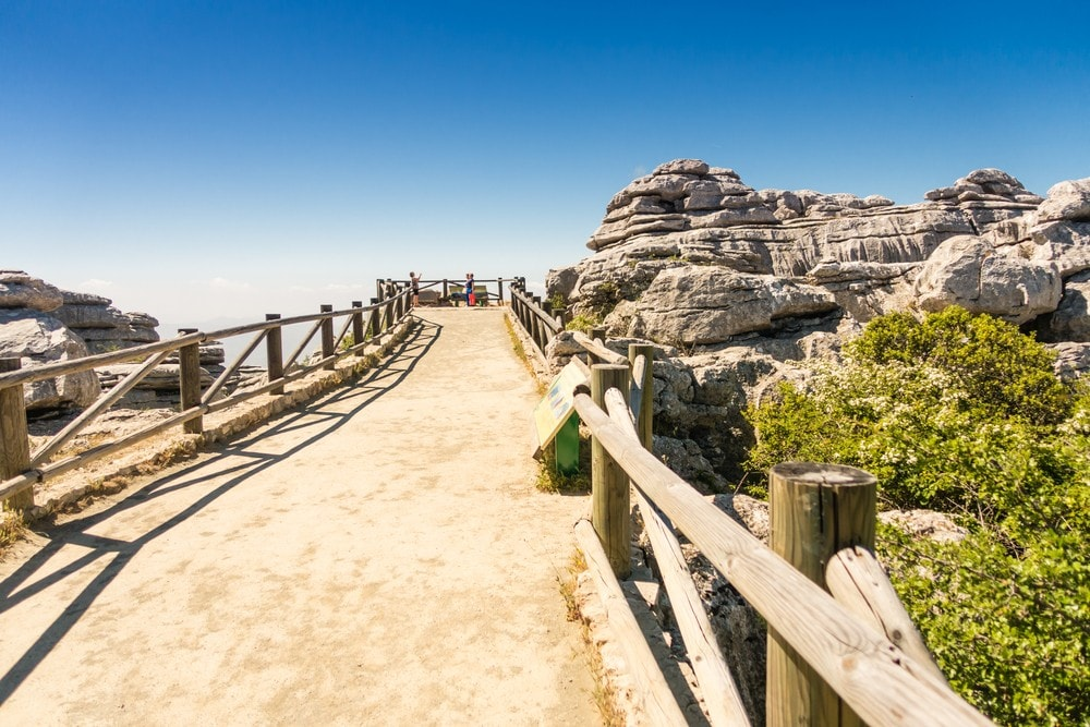 Footpath in El Torcal of Antequera