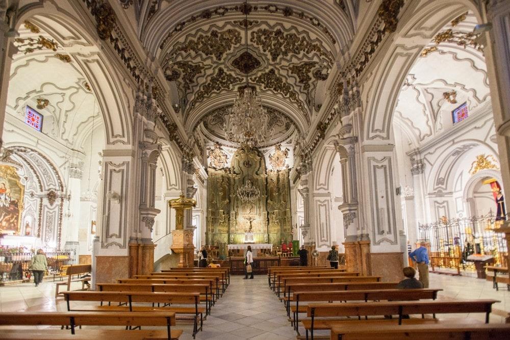Iglesia de Santiago church in Malaga city