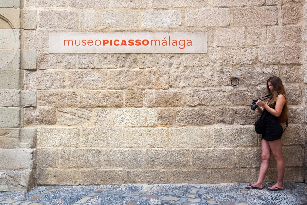 Outdoor of the Picasso Museum in Malaga city